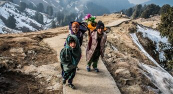 Little Himalayan girl with a Gold nose ring- Stories from the Mountains