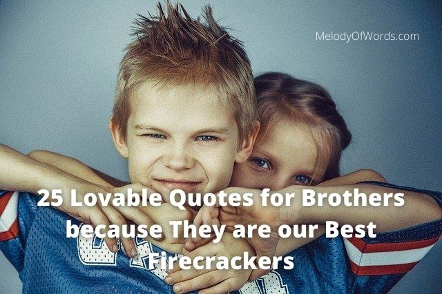 25 Lovable Quotes for Brothers because They are our Best Firecrackers