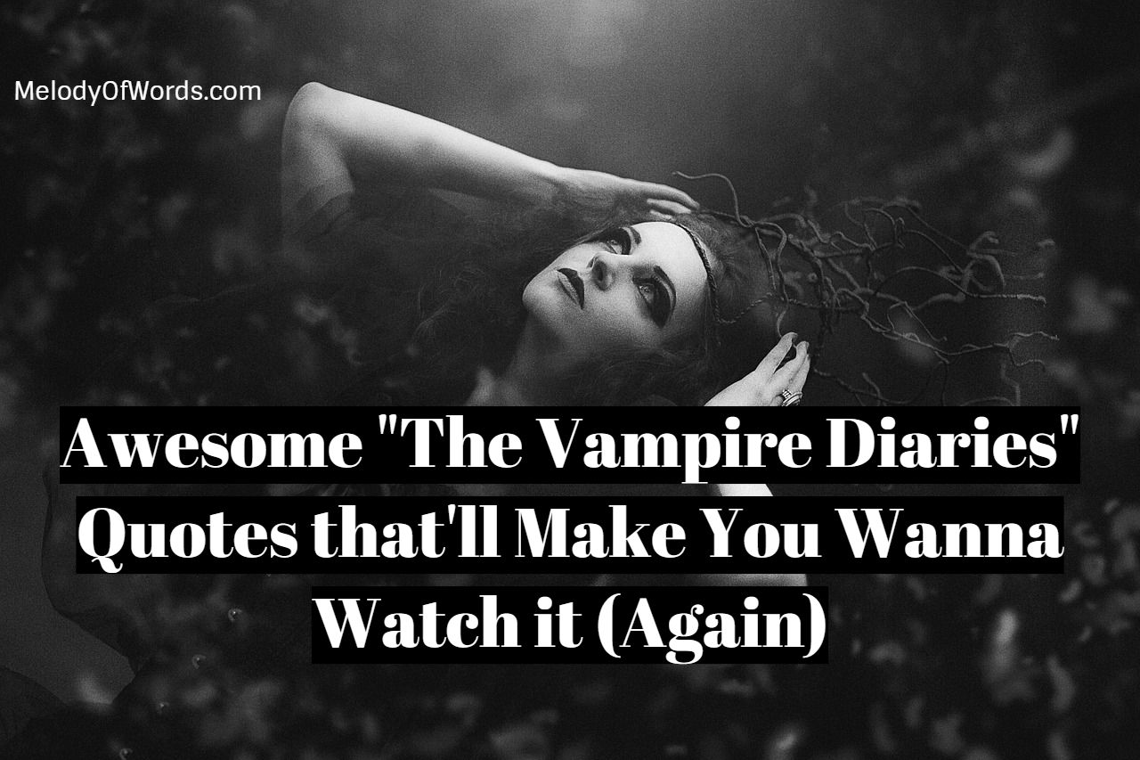 Awesome The Vampire Diaries Quotes that'll Make You Wanna Watch it Again