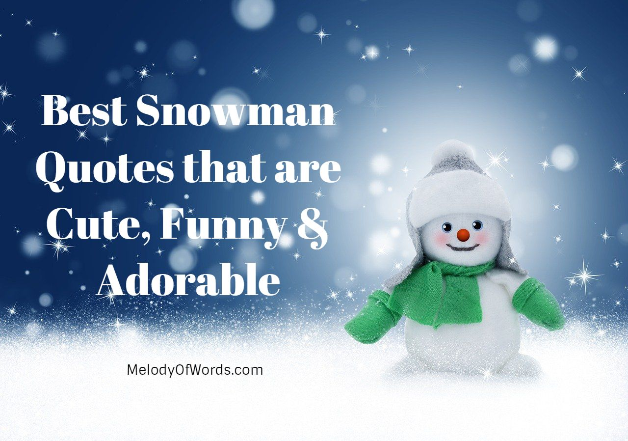 Best Snowman Quotes that are Cute, Funny & Adorable